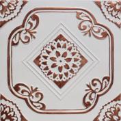 Deli Accent Copper White (50cm x 50cm Pvc) Ceiling Tile
