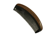 Medium Tooth Comb Red Sandalwood Frame and Buffalo Horn Teeth Handmade Comb - JM002