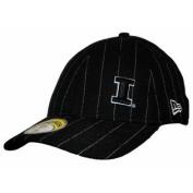 Illinois Fighting Illini New Era Black Pin Stripe Concealer Hat Cap