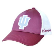Indiana Hoosiers TOW Women Dark Red White Satina Mesh Adjustable Strap Hat Cap