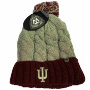 Indiana Hoosiers TOW Women Grey Red Gust Fashion Knit Cuffed Beanie Hat Cap
