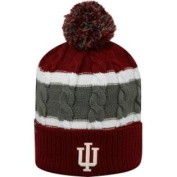 Indiana Hoosiers TOW YOUTH Red Striped Cable Windy Cuffed Beanie Hat Cap