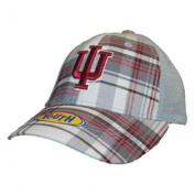 Indiana Hoosiers Top of the World Youth Plaid MVP Mesh Adjustable Hat Cap