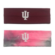 Indiana Hoosiers Dark Red & Tie-Dye Pink 2 Pack Yoga Headbands