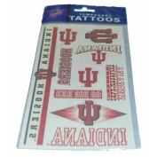 Indiana Hoosiers WinCraft Gameday Red White Temporary Tattoos