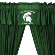 NCAA Michigan State Spartans 5pc Long Curtain-Drapes Valance