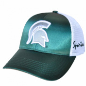 Michigan State Spartans TOW Women Green Satina Mesh Adjustable Strap Hat Cap