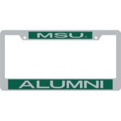 Michigan State Spartans Metal Alumni Inlaid Acrylic Licence Plate Frame