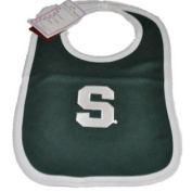 Michigan State Spartans Infant Baby Newborn Green Knit Bib