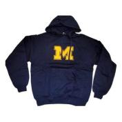 Michigan Wolverines Antigua Hoodie Sweatshirt Goalie Navy Yellow