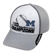 Michigan Wolverines 2015 Big 10 Baseball Tournament Champs Locker Room Hat Cap