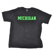 Michigan Wolverines Gear for Sports Black Lime Green Short Sleeve T-Shirt