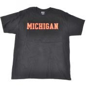 Michigan Wolverines Black Neon Logo Short Sleeve T-Shirt