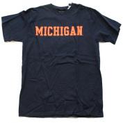 "Michigan Wolverines Gear for Sports Navy Orange ""Michigan"" Cotton T-Shirt"