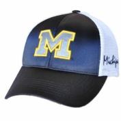 Michigan Wolverines TOW Women Navy White Satina Mesh Adjustable Strap Hat Cap