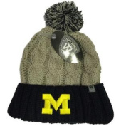 Michigan Wolverines TOW Women Grey Navy Gust Fashion Knit Cuffed Beanie Hat Cap