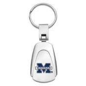 Michigan Wolverines Chrome Colour Teardrop Key Chain