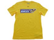 Minnesota Golden Gophers Under Armour Yellow Charged Cotton HeatGear T-Shirt
