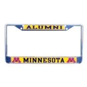 Minnesota Golden Gophers Alumni Metal Licence Plate Frame W/domed Insert