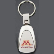 Minnesota Golden Gophers Chrome Colour Teardrop Key Chain