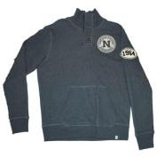 Nebraska Cornhuskers 47 Brand Grey 3 Button Football LS Pocketed Sweatshirt