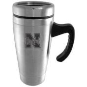 Nebraska Cornhuskers Engraved 470ml Stainless Steel Travel Mug - Silver