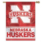 Nebraska Cornhuskers Flag - Vertical House Flag Exclusive Design