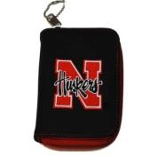 Nebraska Cornhuskers Alan Stuart Black Leather Style Zipper Wallet 8.9cm x 13cm