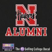 Nebraska Cornhuskers Decal - N Logo W/ Huskers Over Alumni