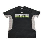 Northwestern Wildcats Under Armour Black HeatGear Performance T-Shirt