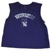 Northwestern Wildcats Blue 84 Purple Womens Cotton Sleeveless T-Shirt