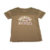 Northwestern Wildcats Blue 84 Women Grey Purple Short Sleeve T-Shirt