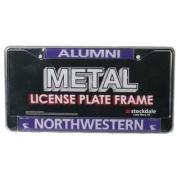 Northwestern Wildcats Alumni Metal Licence Plate Frame W/domed Insert