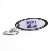 Northwestern Wildcats Key Chain - Chrome