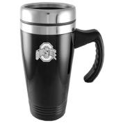Ohio State Buckeyes Engraved 470ml Stainless Steel Travel Mug - Black