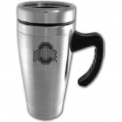 Ohio State Buckeyes Engraved 470ml Stainless Steel Travel Mug - Silver