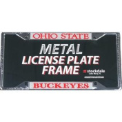 Ohio State Buckeyes Metal Licence Plate Frame W/domed Insert