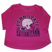 Penn State Nittany Lions Champion Women Pink Football 3/4 Sleeve T-Shirt
