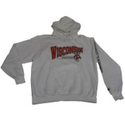 Wisconsin Badgers Champion White Eco Fleece Long Sleeve Hoodie Sweatshirt