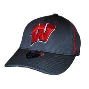Wisconsin Badgers TOW Charcoal Booster Plus Memory FLEXFIT Hat Cap