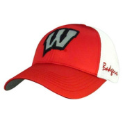 Wisconsin Badgers TOW Women Red White Satina Mesh Adjustable Strap Hat Cap