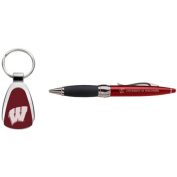 Wisconsin Badgers Pen And Keytag Gift Set