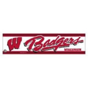 Wisconsin Badgers Official NCAA 30cm x 7.6cm Bumper Sticker Wisconsin by Wincraft