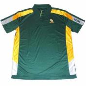 Baylor Bears Chiliwear Green Yellow Ribbed Performance Golf Polo Shirt