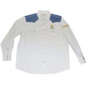 Baylor Bears Chiliwear Beige Denim Shoulder Button Up Long Sleeve T-Shirt