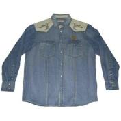 Baylor Bears Chiliwear Denim Jean Pearl Button Up Western Style LS T-Shirt