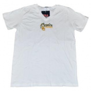 Baylor Bears Cotton Exchange White Green Yellow Logo V-Neck T-Shirt