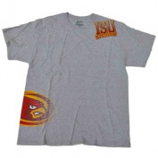 Iowa State Cyclones Gear for Sports Grey Red Yellow Short Sleeve T-Shirt