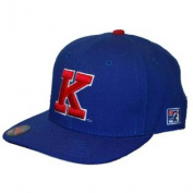 Kansas Jayhawks The Game Big K Blue Red Pro Fitted Hat Cap 6 3/4