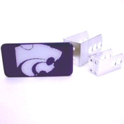 Kansas State Universal Hitch Receiver W/domed Emblem - Purple Background